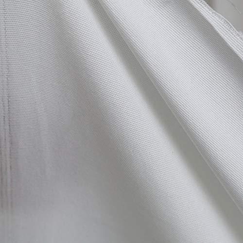 TOLKO Dekostoffe Meterware als Gardinenstoff/Vorhangstoff | Breite: 320 cm | Leichter Stoff für Dekoration Hochzeit Sonnenschutz Beschattung zum Nähen und Dekorieren (Weiß)