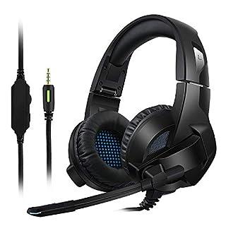 Gaming Headset für PS4 / Xbox One, Amicool Stereo - Bass - Surround/ Lärmminderung / Lautstärkeregler / über Kopfhörer Mit Mikrofon Ohr - Für Laptop - PC Mac Computer und Smartphone