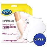 Scholl EXPERTCARE Intensiv pflegende Fußmaske - Feuchtigkeitsspendende Pflege - Ohne Parfüm & Farbstoffe - 6 Paar Einwegsocken