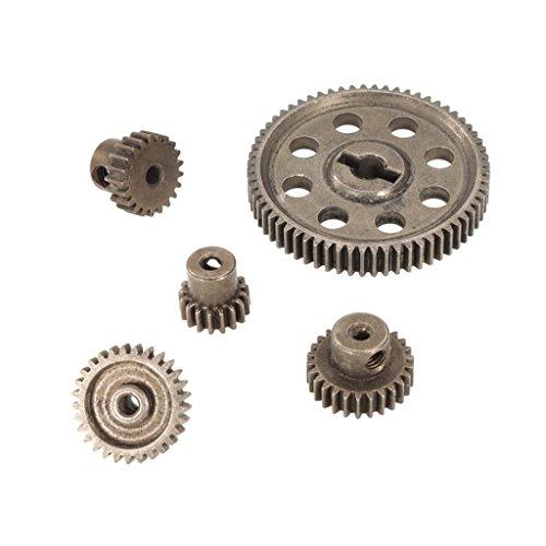 Baoblaze 11184 Stahl Motorrad Getriebe Ritzel Zubehör für 1/10 Hsp Hpi RC Auto