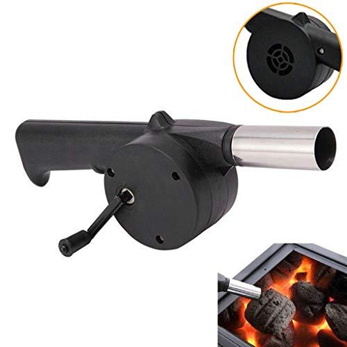 Portable Handheld Elektrische BBQ Fan Air Gebläse für Outdoor Camping Picknick Grill Kochen Werkzeug (Schwarz) -