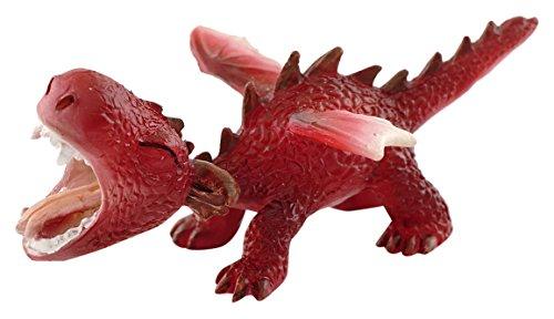 Top Collection Miniatur-Fairy Garden und Terrarium Mini Red Dragon Brüllender Figur