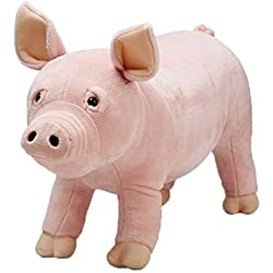 Melissa & Doug Pig Lifelike Stuffed Animal Plush, Color Rosa (18833)