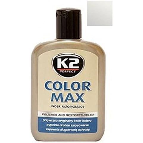 K2 Max, colorati con cera di carnauba, rigenera auto car shine, 200 ml, colore: argento