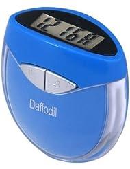August HPC907B Podomètre Multifonction: Calcul de pas, distance et calories avec réglage de poids et horloge numérique. Couleur Bleu