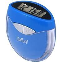 August HPC907B Contapassi multifunzione - Contapassi con orologio - Utilizza il vostro peso e la vostra andatura per calcolare le calorie bruciate e la distanza percorsa – Blu