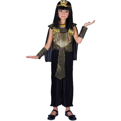 Eyptian Queen Cleopatra Child Girls Fancy Dress (Gold Cleopatra Kostüme)