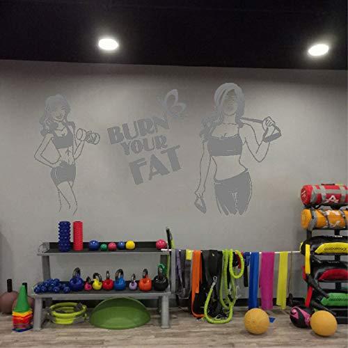 yaoxingfu Etiqueta de la Pared del Gimnasio con Mancuernas Sports Fitness Club...