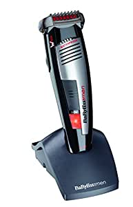 Babyliss E845IE Tondeuse Barbe Lames Wtech Waterproof Rechargeable + Socle Rechargeable 3 Jours