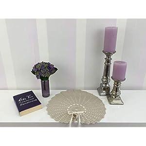 Velvet Romantic Dekoration Collection 104 (Sand) Häkeln,Skandinavisch, Shabby Chic, Landhaus, Romantische, Design Klassiker Möbel für eine Moderne Elegante Wohnung