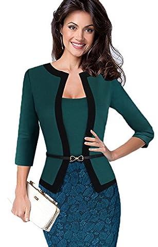 Pois tempérament professionnelle couture était robe fine XL vert
