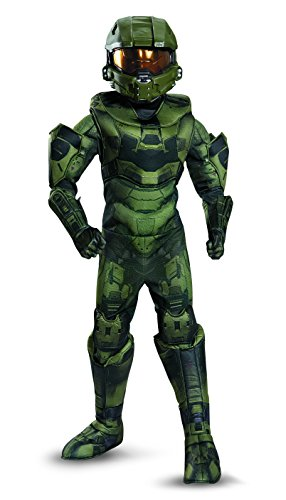 Disguise Master Chief Prestige Costume, Medium (7-8)