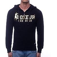 Boxeur Des Rues BXE-4859G, Felpa Uomo, Nero/Oro, XXL