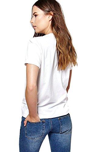 blanc Hommes Amber Slogan Oversized T-Shirt Blanc