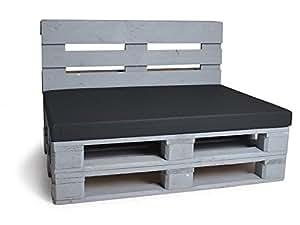 palette coussin matelas 120 x 80 cm noir animalerie. Black Bedroom Furniture Sets. Home Design Ideas