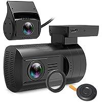 BEESCLOVER DVR - Cámara de vigilancia para salpicadero de Coche con cámara de Doble Lente DVR