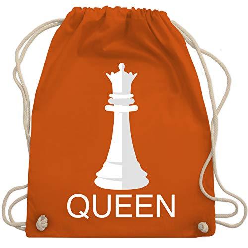 Queen Kostüm Winter - Karneval & Fasching - Queen Schachfigur Karneval Kostüm - Unisize - Orange - WM110 - Turnbeutel & Gym Bag