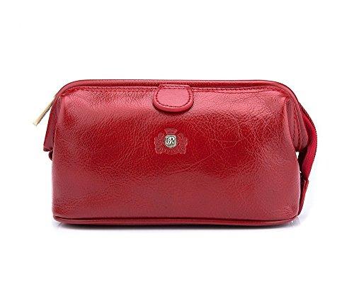 Wittchen Vanity | Couleur: Rouge | Cuir de grain | La taille (cm): 12 x Largeur (cm): 21 | Collection: Roma | 22-3-004-3