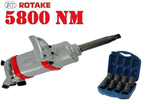 Preisvergleich Produktbild ROTAKE Druckluft Schlagschrauber 5800 NM inkl. Kraftnuss Satz CRMO