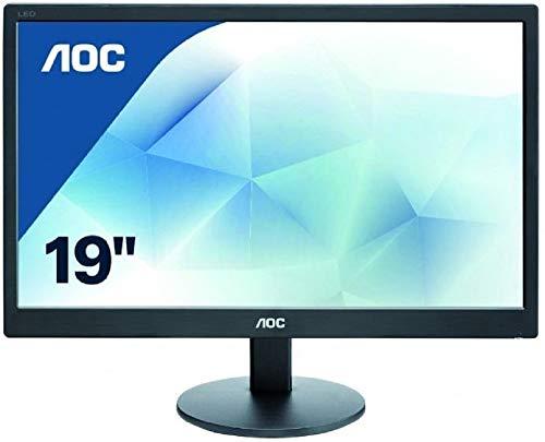 AOC E970SWN - Monitor de 18,5' (resolución 1366 x 768 pixels, tecnología WLED, contraste 700:1, 5 ms, VGA), color negro