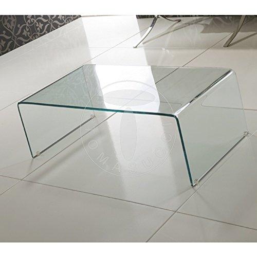 Wink Design, Delaware, tavolino in Vetro curvato