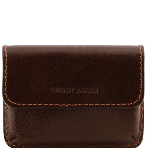 Tuscany Leather Esclusivo porta biglietti da visita in pelle Testa di Moro Accessori in pelle uomo
