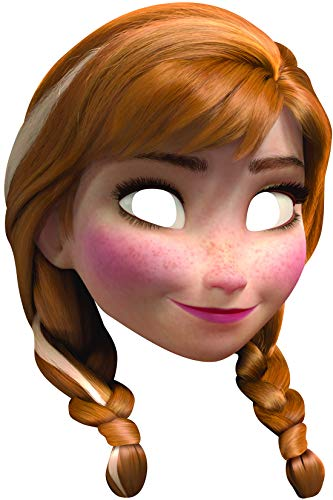 Hans Kostüm Aus Frozen - Halloweenia - Kostüm Accessoires Zubehör Anna Frozen Card Maske, perfekt für Karneval, Fasching und Fastnacht, Natur