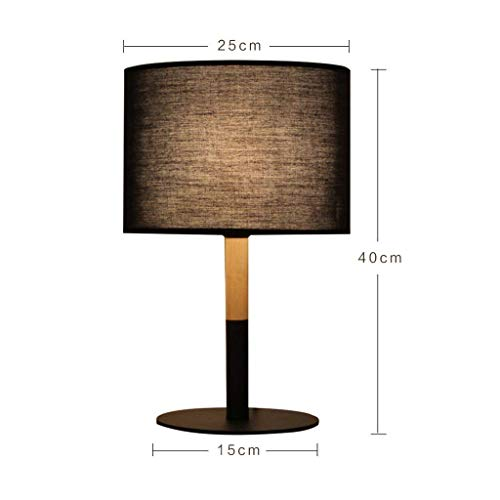 ChuanHan Ceiling Fan Light Chandelier Lightings Table Lamp Solid Wood Iron Craft Bedroom Bedside Push Button Switch Hotel Creative Decorative Table Led E27