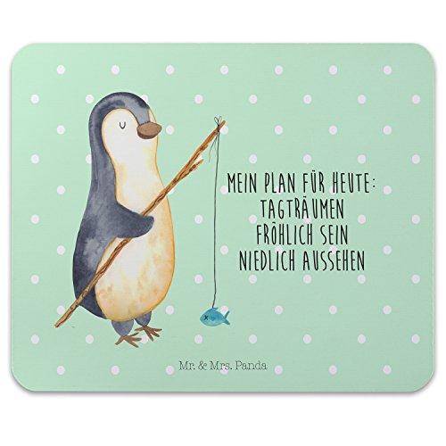 Mr. & Mrs. Panda Mauspad Druck Pinguin Angeler - 100% handmade in Norddeutschland - Mouse Pad, Mauspad, Wochenende, Arbeitszimmer, Planer, Motivation, Maus, Geschenk, Schenken, Neustart, Motiv, Angler