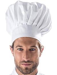 zeitnet inc Cappello cuoco in puro cotone made in italy taglia uomo donna  bambino da 55 c62fd3a610db