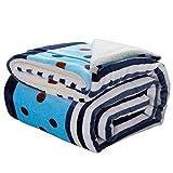 GJC-Tagesdecken Vierjahreszeiten Decke Flanell Verdickung Decke Kinder Studenten Einzigen Doppel Siesta Decke Büro Sofa Decke Blau,180 * 200CM