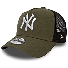 NEW ERA Trucker–Gorra infantil–Heather NY Yankees verde oliva, infantil, verde oliva, Para jóvenes-(54-56 cm)