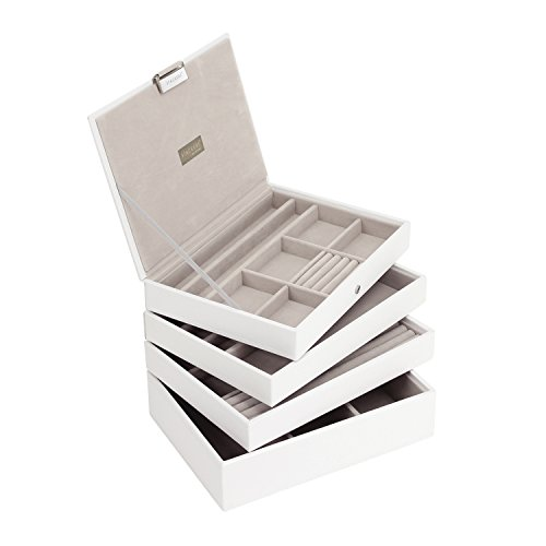 stackers-set-of-4-classic-size-white-stacker-set-of-4-jewellery-box-with-grey-velvet-finish-lining