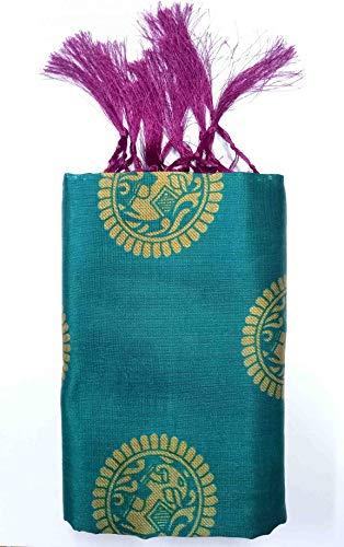 Winza Designer Jamawar art silk with blouse piece Saree (CHOTA HAATHI_ Rama_ Free)