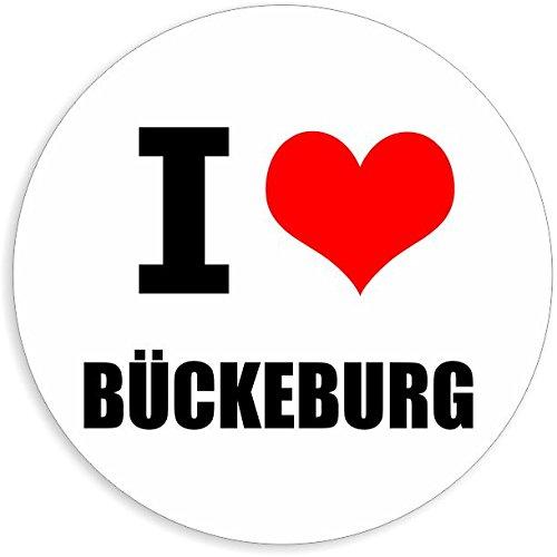 I love Bückeburg in 2 Größen erhältlich Aufkleber mehrfarbig Sticker Decal