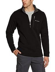 Columbia Fleece Terpin Point II Half Zip - Sudadera para hombre, color negro (Black), talla M