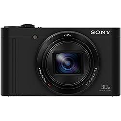 Sony DSC-WX500B Appareils Photo Numérique, Capteur CMOS Exmor R, 18.2 Mpix, Zoom Optique 30x, Stabilisation 5 axes - Noir