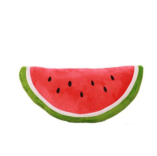 XueXian(TM) Kissen Wassermelonen Obst Plüsch Dekokissen(Semi-circular,40 cm) (Obst-plüsch-kissen)