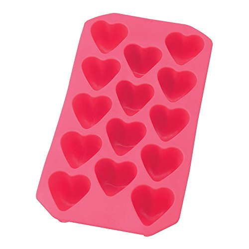 harold-imports-red-silicone-ice-cube-tray-mold-heart-makes-14-for-valentines
