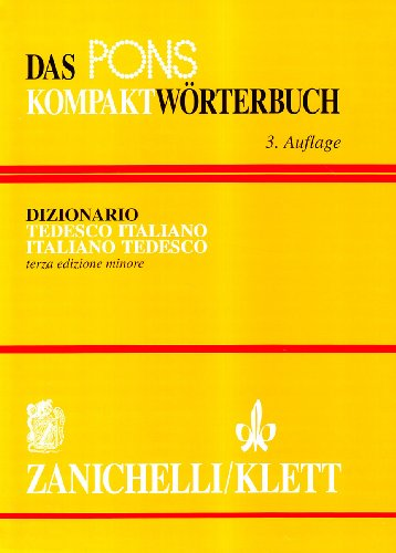 Das Pons Kömpaktworterbuch. Dizionario tedesco-italiano, italiano-tedesco. Ediz. minore