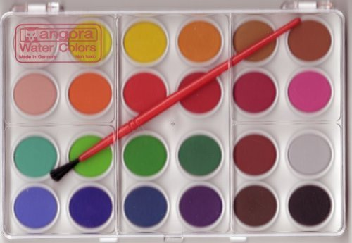 24 colors solid watercolor