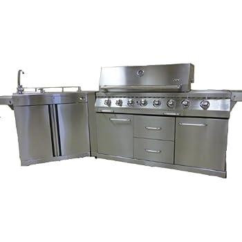 Barbecue a gas, Cucina da esterno in acciaio inox CKW EXCLUSIVE 1000 ...