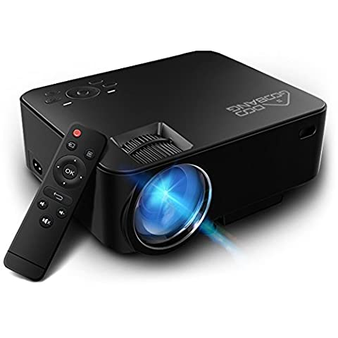 Video Projector 1080P HD, GooBang T20 Multimedia Portable Mini Home