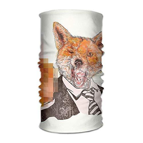 Headwear Multifunctional Sweatband Fox Middle Finger Face Mask Scarf Bandana Head Wrap...