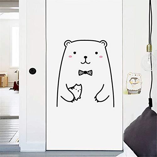 (AmyGline DIY Cute Bear frech katzentür Aufkleber kühlschrank Aufkleber bilderrahmen dekorative malerei wandbilder)