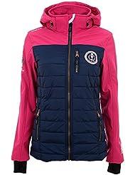 Vent du cap - chaqueta bimaterial mujer ANDREI-marina/rosa-L