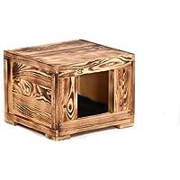 Wohnhöhle Amadeus 36x39x30cm Katzenhöhle Hundehütte Holz Schlafhöhle Katzenbett
