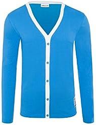 T221 - NEBULUS Cardigan LOOP, Veste tricotée, Pull avec patte boutonnée