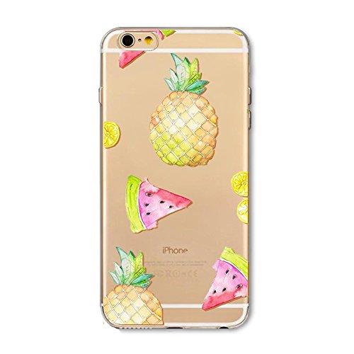 "CoqueiPhone 6S Etui Housse,BoomTeck Coque Pour 4.7"" Apple iPhone 6S/iPhone 6 Silicone Souple Transparente Motif Clear Ultra Mince Anti Choc Anti-rayures Gel TPU Etui Protection Bumper Case - Fruits P 04"