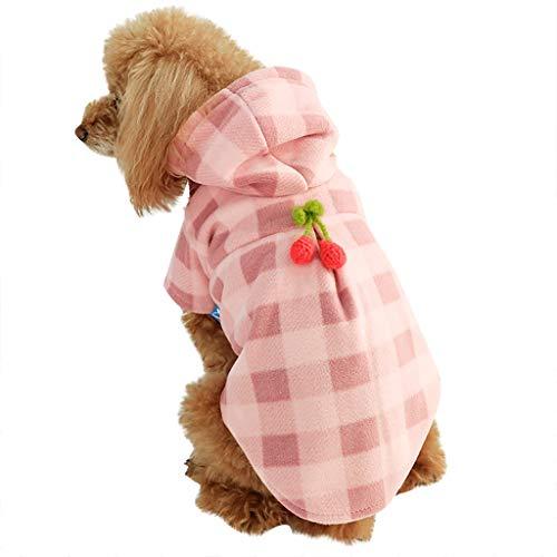 Hundebekleidung Hundeshirts Hund T-Shirt Kostüm, Hawkimin Atmungsaktive Kariert Tanktops Haustier Katze Niedliches Schöne Haustierpullover für Große, Mittelgroße, Kleine - Einfach Niedlich Hunde Kostüm